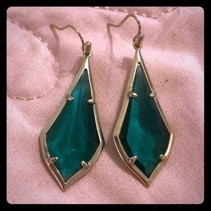 Kendra Scott Emerald Colored Earrings